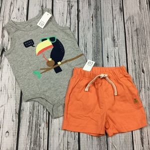 Gap Boys 0 3 6 12 18 24 Month Toucan Shorts Outfit